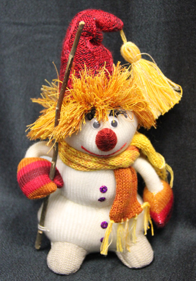 Снеговик. игрушка. 100% лен