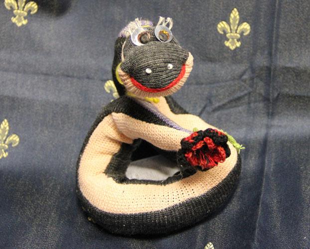 игрушка Змея 100% лен