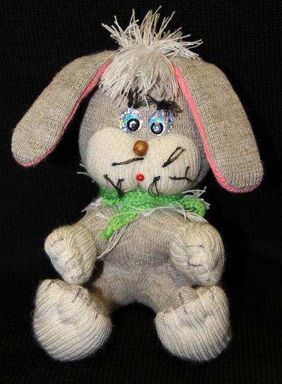 Заяц игрушка 100% лен
